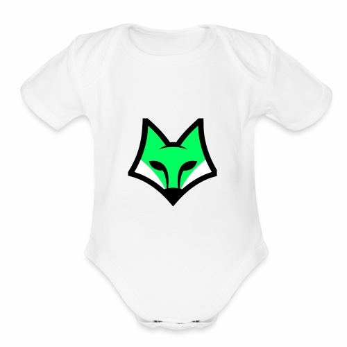 LFM Fox Logo - Organic Short Sleeve Baby Bodysuit