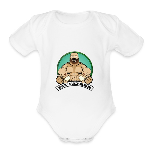 Fit Father - Organic Short Sleeve Baby Bodysuit