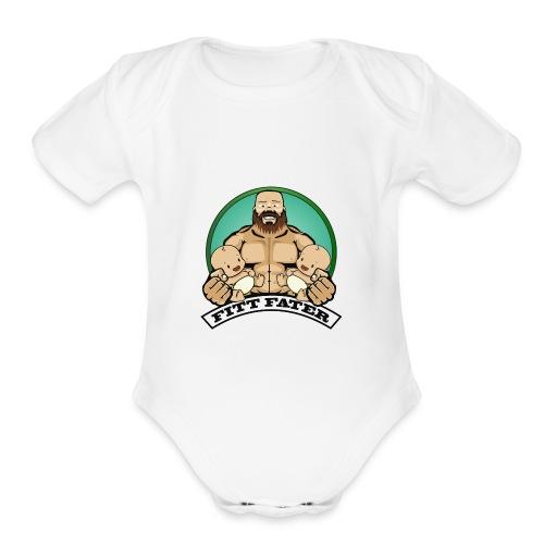 Fitt Fater - Organic Short Sleeve Baby Bodysuit