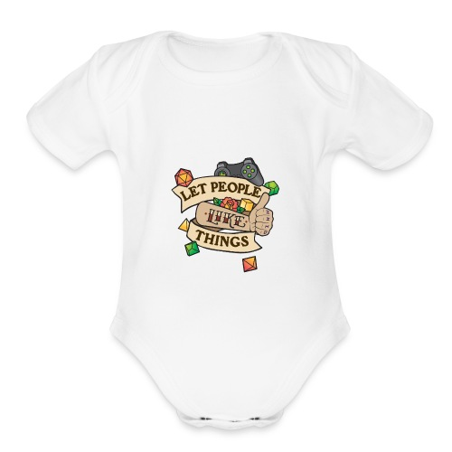 Let People Like Things - Color - Organic Short Sleeve Baby Bodysuit