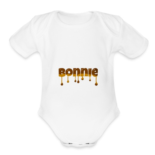 Bonnie chocolate - Organic Short Sleeve Baby Bodysuit