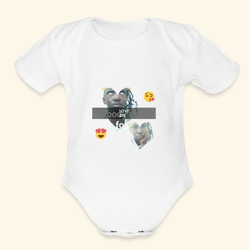 The i don't care look. - Organic Short Sleeve Baby Bodysuit
