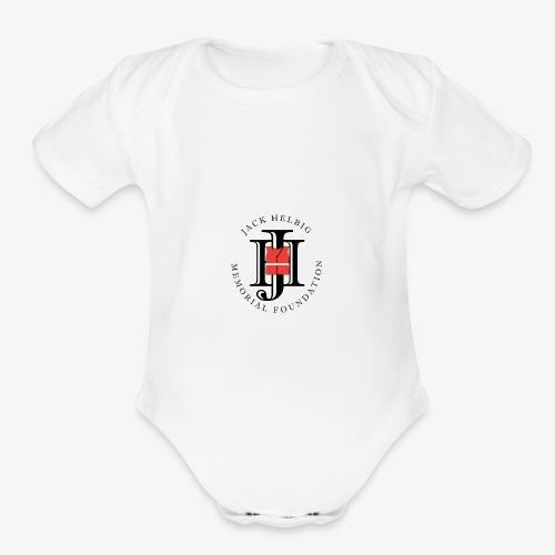 JHMF Logo - Organic Short Sleeve Baby Bodysuit