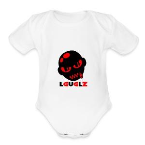 Levelz Black & Red - Short Sleeve Baby Bodysuit