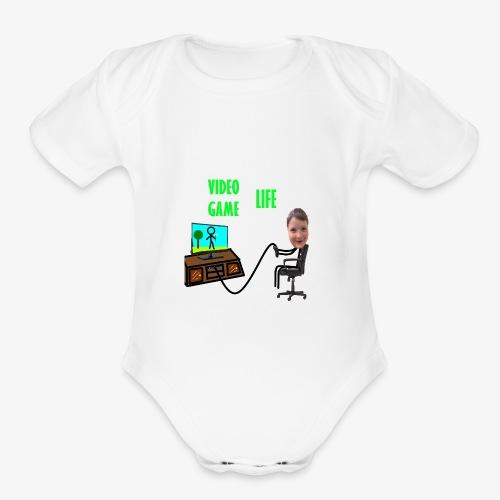 VideoGameLife - Organic Short Sleeve Baby Bodysuit