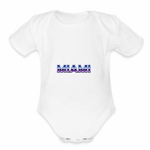 80s Style Miami - Short Sleeve Baby Bodysuit