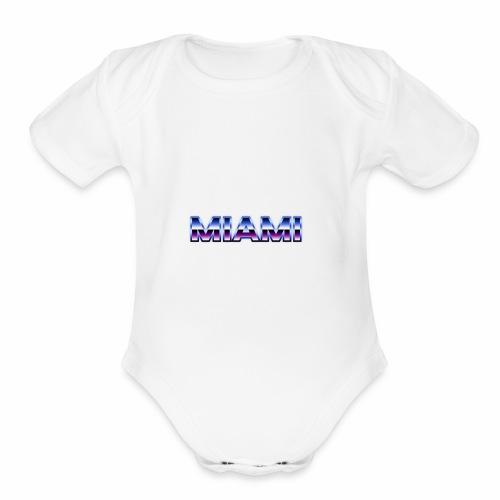 80s Style Miami - Organic Short Sleeve Baby Bodysuit