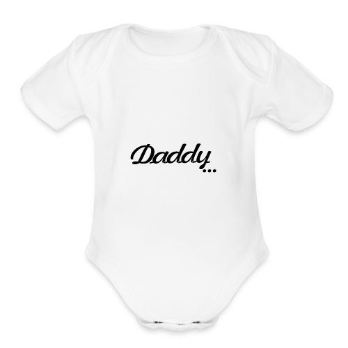 daddy cool - Organic Short Sleeve Baby Bodysuit