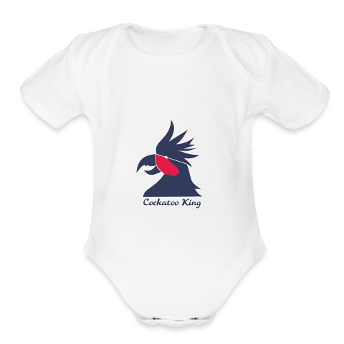 Cockatoo Logo - Organic Short Sleeve Baby Bodysuit