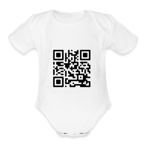 QR Codes are Dumb - Black - Organic Short Sleeve Baby Bodysuit