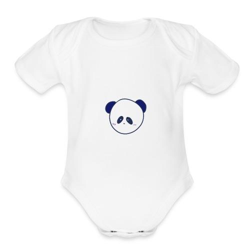 CyberPanda Head - Organic Short Sleeve Baby Bodysuit