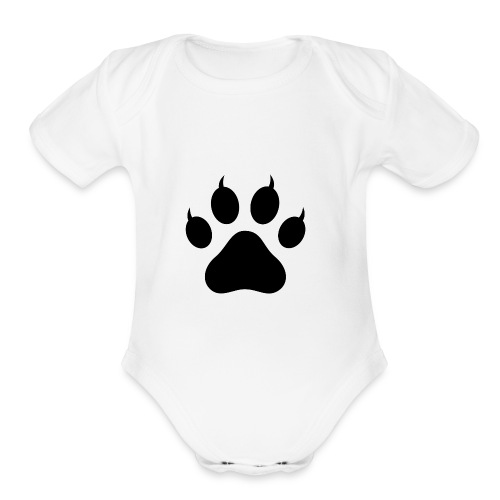 Cat Pawprint - Organic Short Sleeve Baby Bodysuit