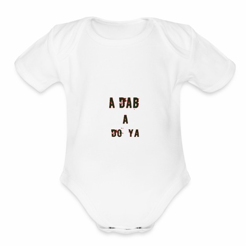 a dab red - Organic Short Sleeve Baby Bodysuit
