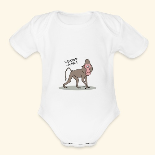 Travel to Africa - Organic Short Sleeve Baby Bodysuit