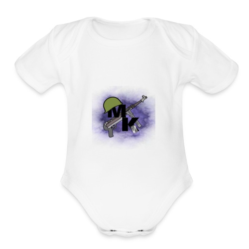 My New Logo - Organic Short Sleeve Baby Bodysuit