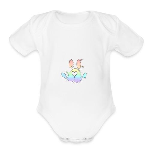 Rainbow Paw - Organic Short Sleeve Baby Bodysuit