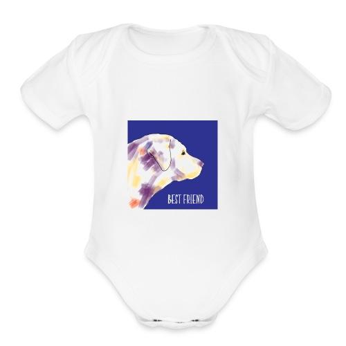 Best friend - Organic Short Sleeve Baby Bodysuit