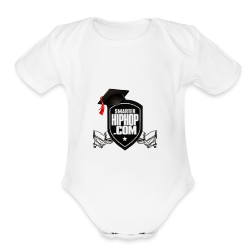 Official Smarterhiphop Merch - Organic Short Sleeve Baby Bodysuit