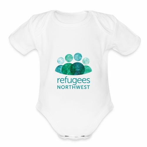 Refugees Northwest Logo Design - Organic Short Sleeve Baby Bodysuit