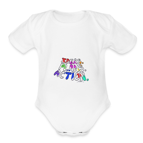 Ideas Plans Action - Organic Short Sleeve Baby Bodysuit