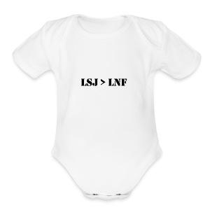 LSJ - Short Sleeve Baby Bodysuit