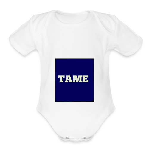 TAME Blue - Organic Short Sleeve Baby Bodysuit
