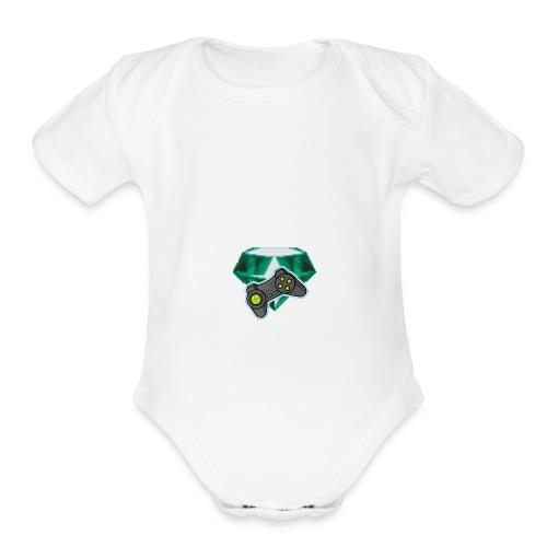 new logo merch - Organic Short Sleeve Baby Bodysuit