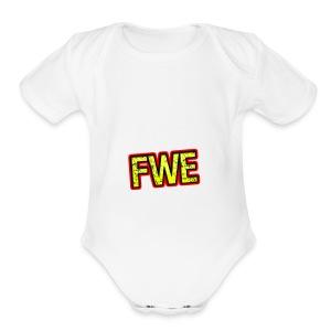 FWE Wrestling Logo - Short Sleeve Baby Bodysuit