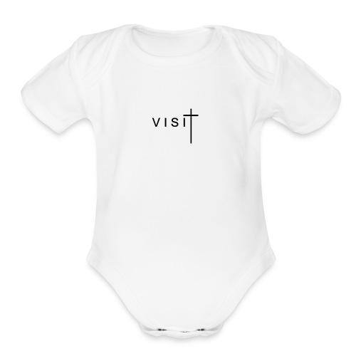 VISIT WHITE MERCHANDISE - Organic Short Sleeve Baby Bodysuit