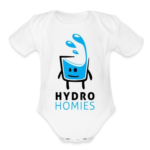 HydroHomies | Hydro Homies | Cup of Water Design - Organic Short Sleeve Baby Bodysuit