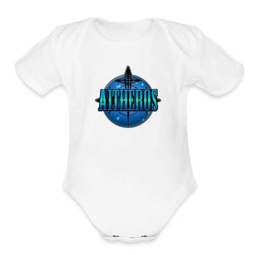 Aitheros Logo - Organic Short Sleeve Baby Bodysuit