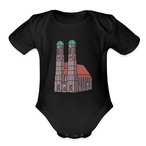 Munich Frauenkirche - Organic Short Sleeve Baby Bodysuit
