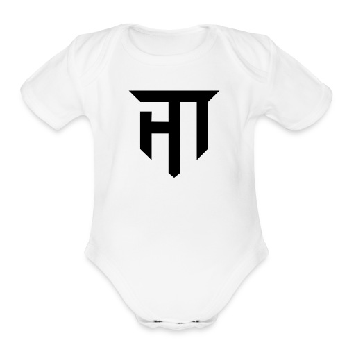HoMie Black - Organic Short Sleeve Baby Bodysuit