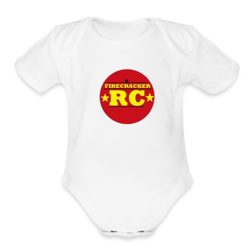 Firecracker RC Logo - Organic Short Sleeve Baby Bodysuit