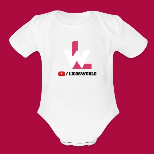 Logo on Grey Sport - Organic Short Sleeve Baby Bodysuit