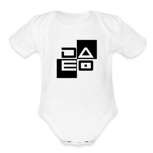 DAE0 logo with pointed edges - Organic Short Sleeve Baby Bodysuit