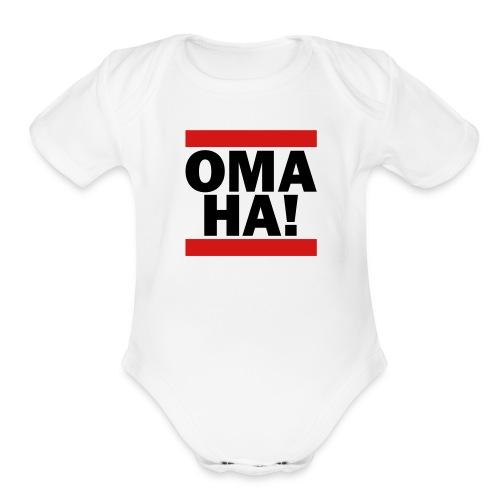 OMAHA Logo Shirt - Organic Short Sleeve Baby Bodysuit