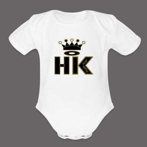 hk - Organic Short Sleeve Baby Bodysuit
