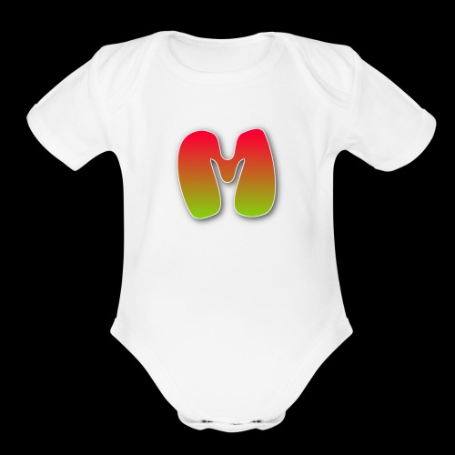 Monster logo shirt - Organic Short Sleeve Baby Bodysuit