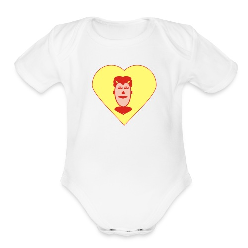LOVE ALL - Organic Short Sleeve Baby Bodysuit
