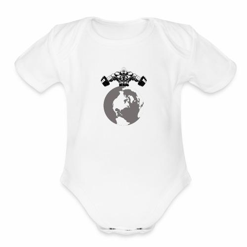 Muscle World - Organic Short Sleeve Baby Bodysuit