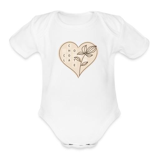 Chocolate Love - Organic Short Sleeve Baby Bodysuit