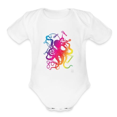 Rainbow Circus Octopus - Organic Short Sleeve Baby Bodysuit