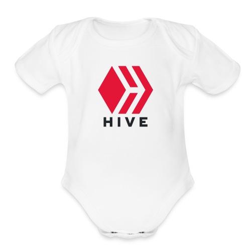 Hive Text - Organic Short Sleeve Baby Bodysuit