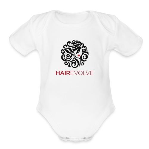Hair Evolve Fan T-Shirt - Organic Short Sleeve Baby Bodysuit