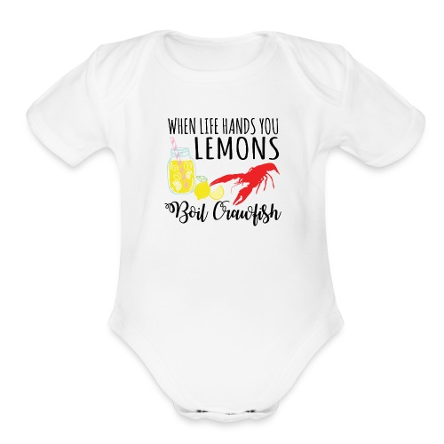 boil crawfish - Organic Short Sleeve Baby Bodysuit