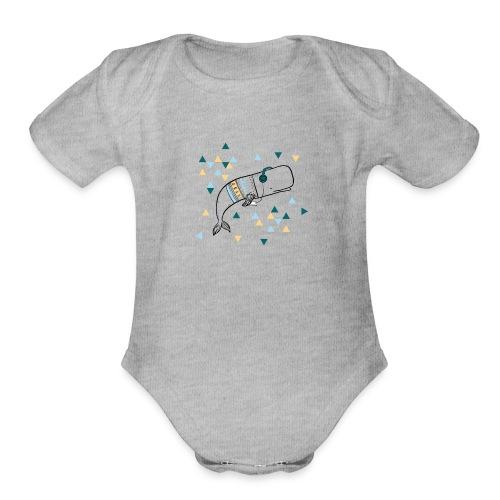 Music Whale - Organic Short Sleeve Baby Bodysuit