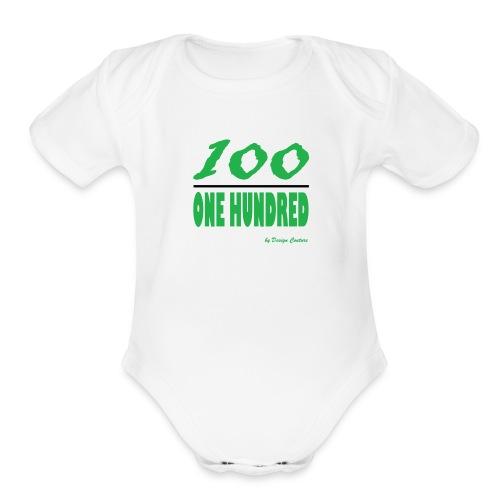 ONE HUNDRED GREEN - Organic Short Sleeve Baby Bodysuit