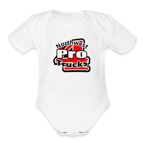 Pro4 Logo - Organic Short Sleeve Baby Bodysuit