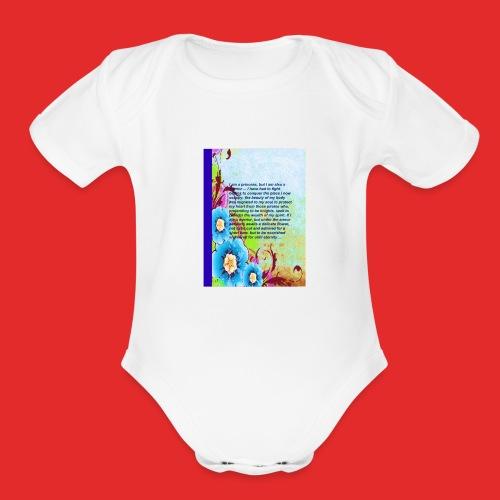 Warrior princess - Organic Short Sleeve Baby Bodysuit